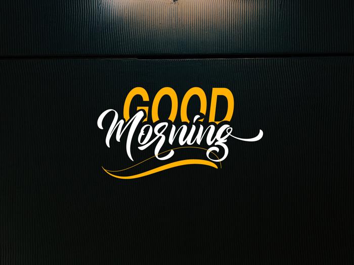 Good Morning Font poster