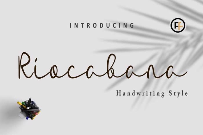 Riocabana Font poster