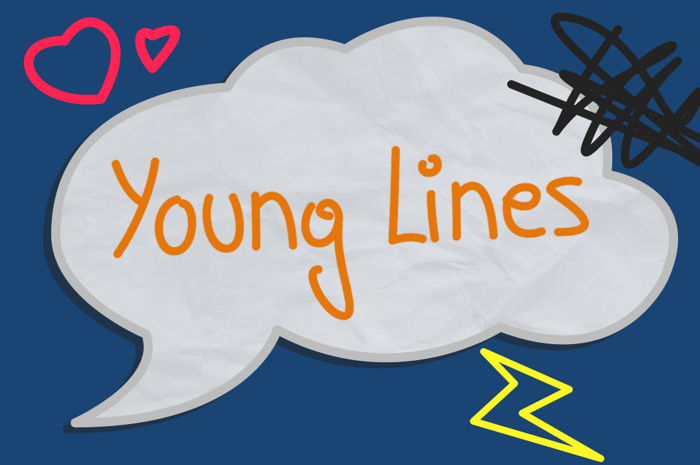 Young Lines Font poster