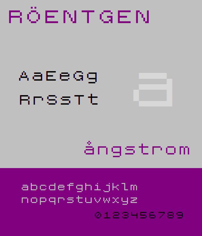 Roentgen NBP Font poster