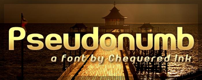 Pseudonumb Font poster