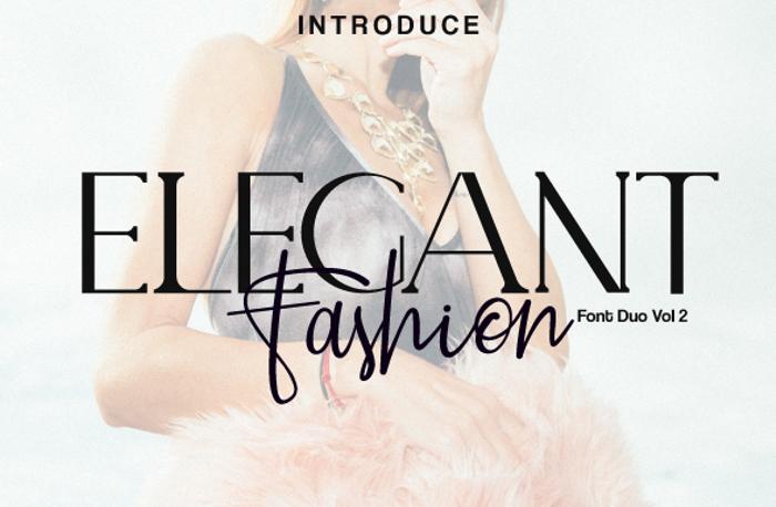 ELEGANT Font poster
