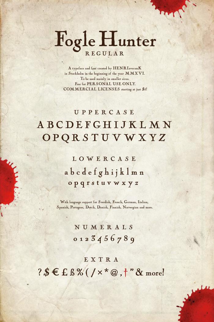 Fogle Hunter Font poster