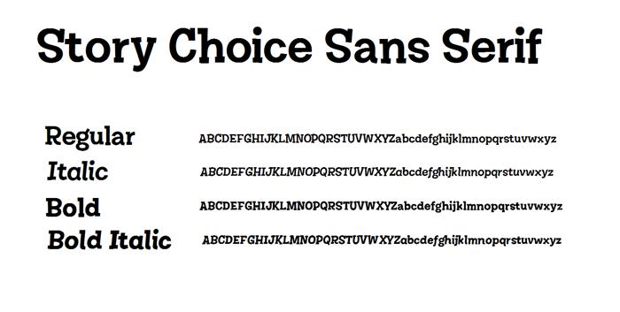 Story Choice Sans Serif Font poster
