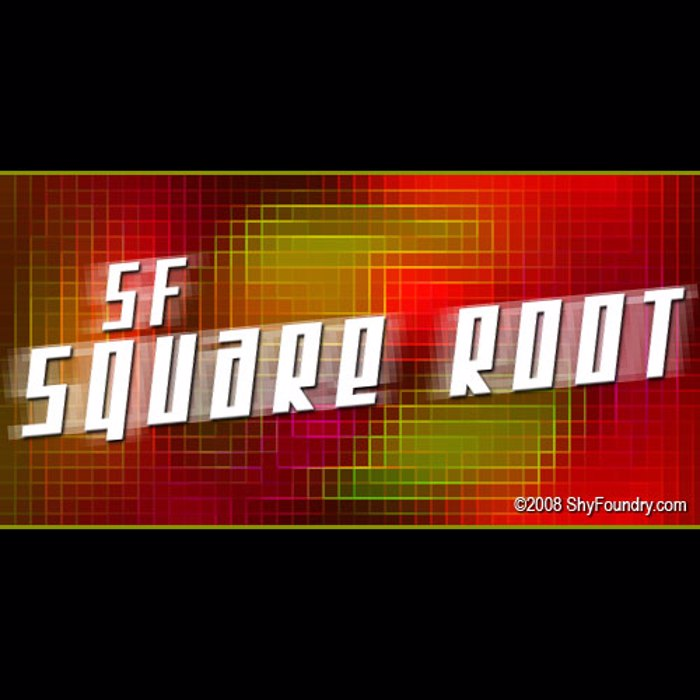 SF Square Root Font poster