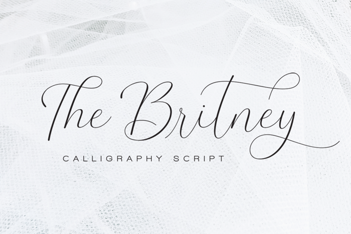 The Britney Font poster