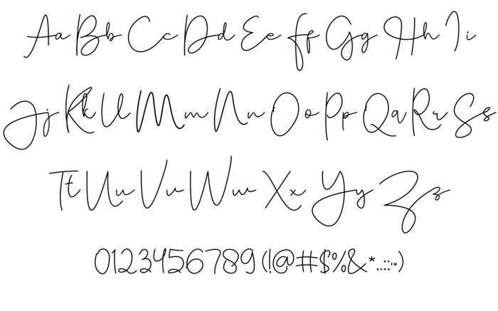 Tallitha Font poster