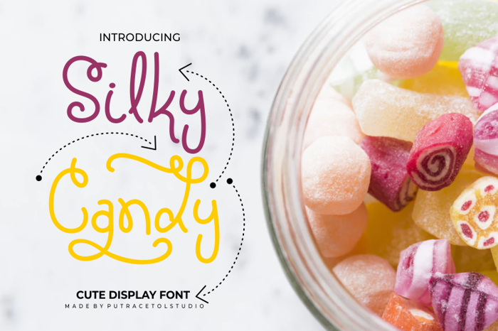 Silky Candy Font poster