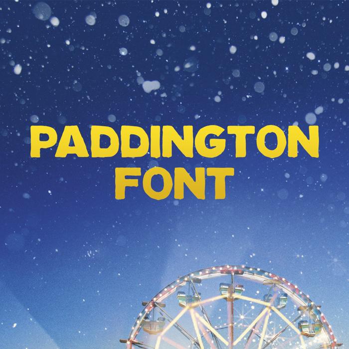Paddington Font poster