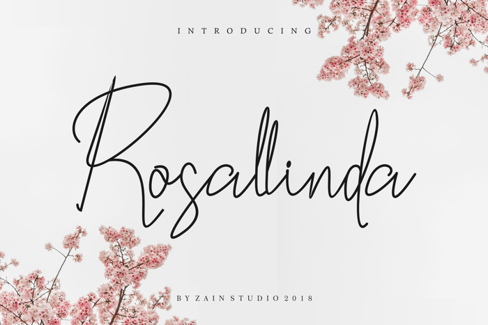 Rosallinda Font poster