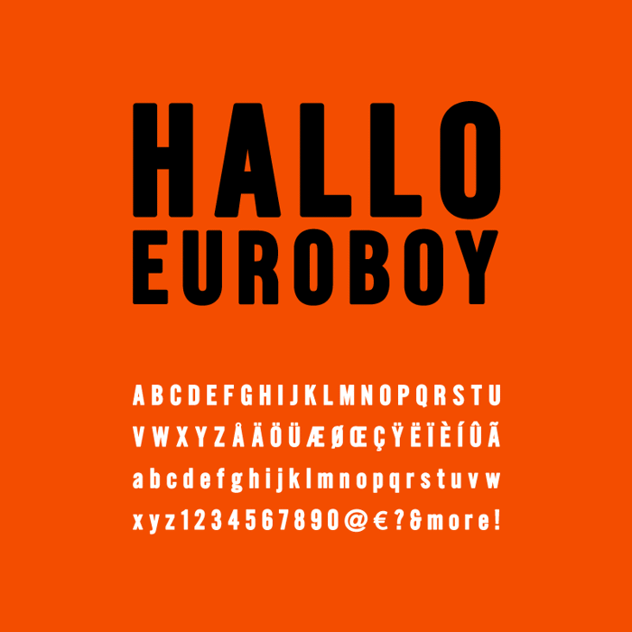 Hallo Euroboy Font poster