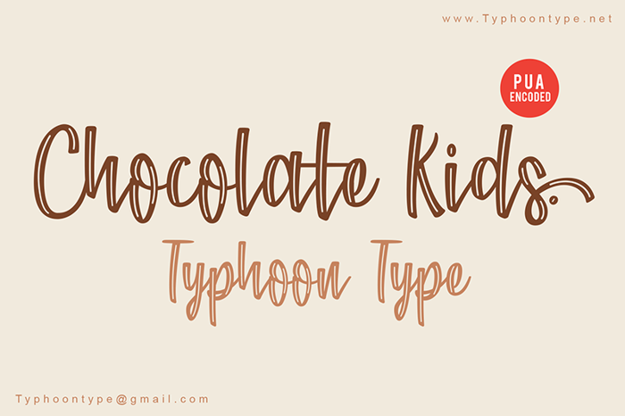 Chocolate Kids Font poster