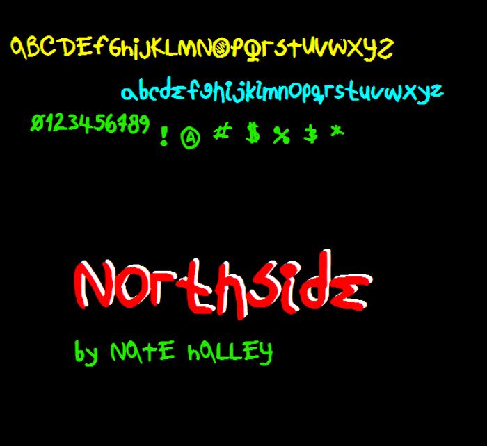 NorthsideNBP Font poster