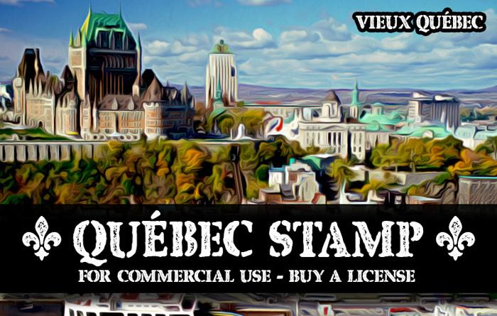 CF Quebec Stamp Font poster