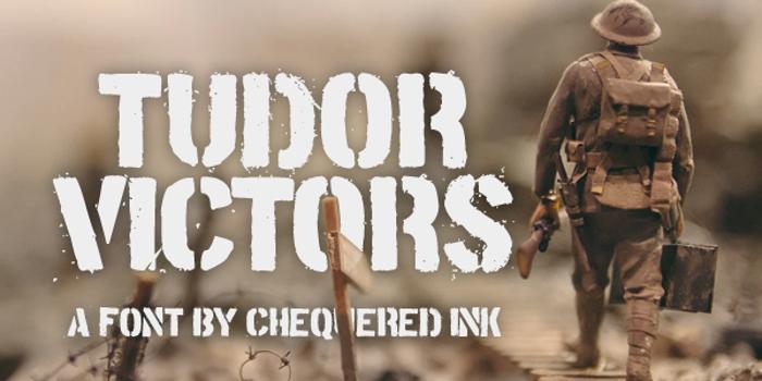 Tudor Victors Font poster
