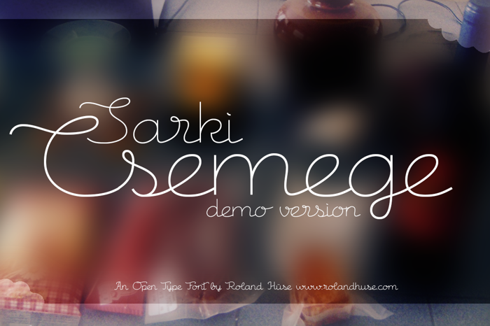 Csemege Demo Font poster