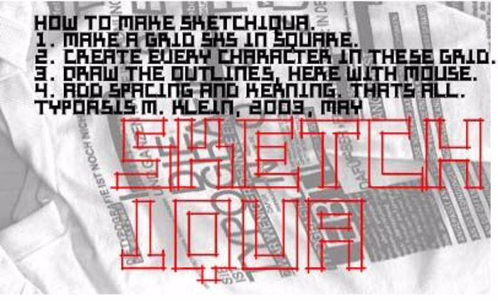 Sketchiqua Font poster