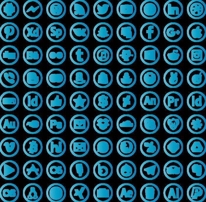 social media Font poster