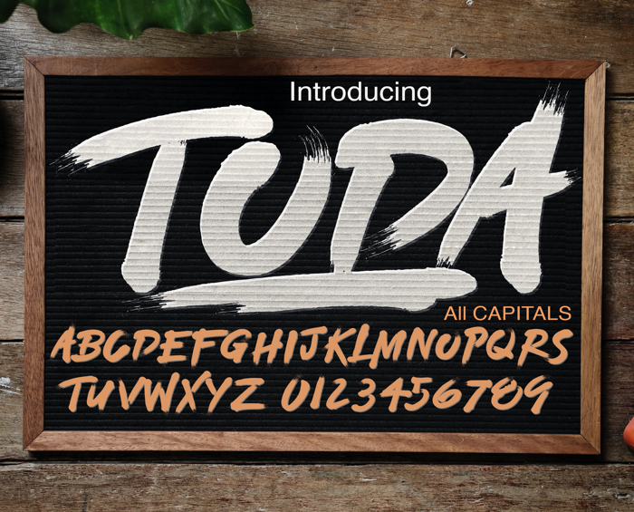 TODA DEMO Font poster