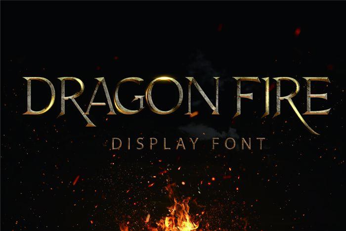 Dragon Fire Font poster