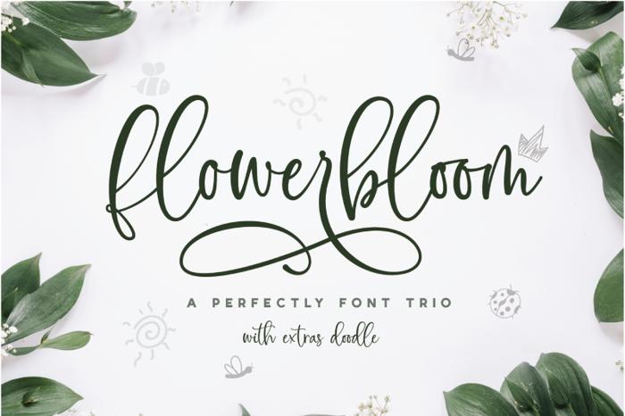 Flowerbloom Font poster