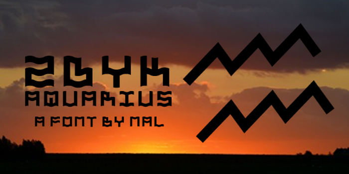 Zdyk Aquarius Font poster