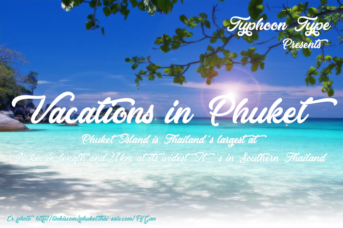 Vacations in Phuket Font poster