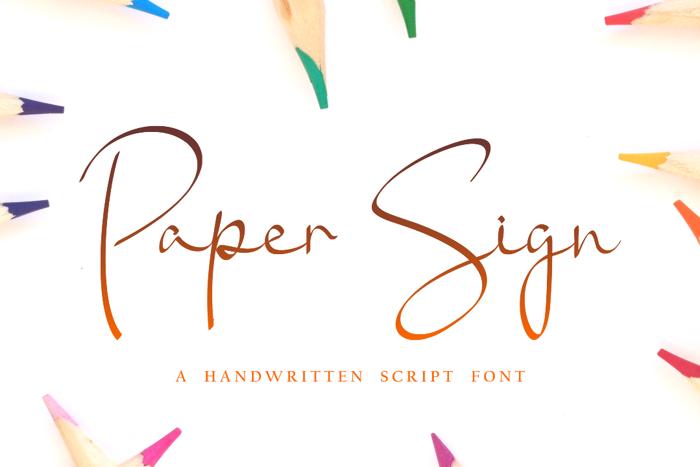 Paper Sign Font poster