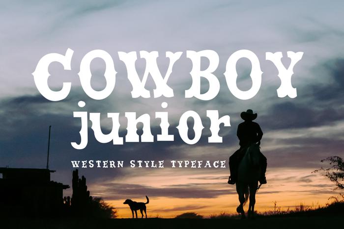 COWBOY JUNIOR Font poster