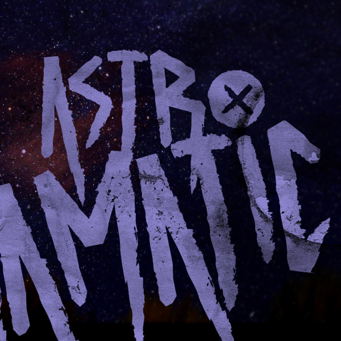 ASTRODRAMATIC Font poster