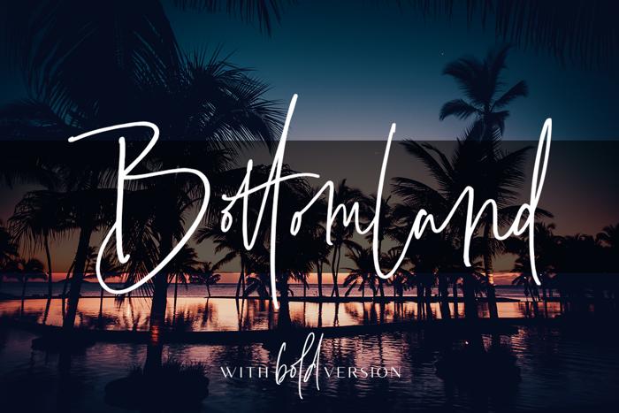 Bottomland Font poster