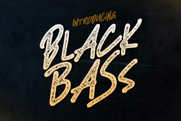 Black Bass Font poster