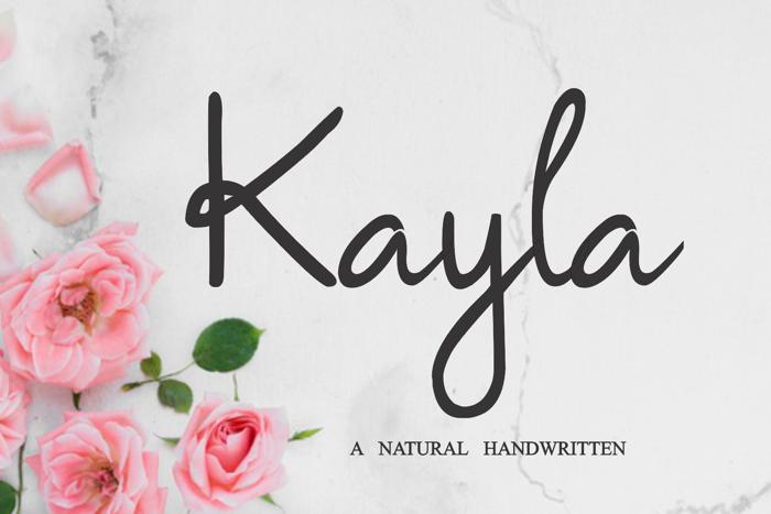 Kayla Font poster