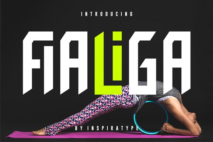FIALIGA Font poster