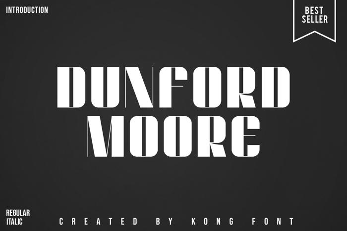 Dunford moore Font poster