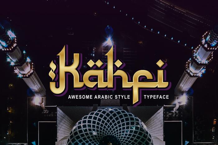 Kahfi Font poster