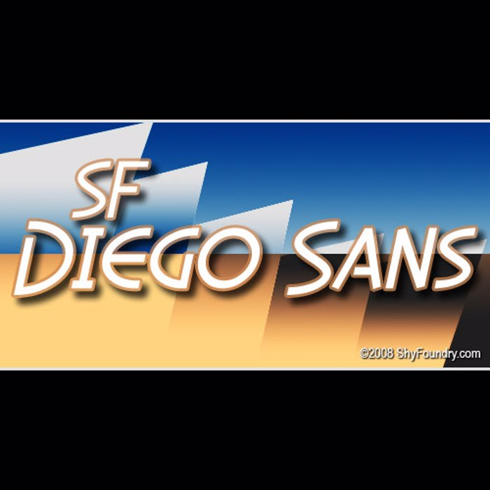 SF Diego Sans Font poster