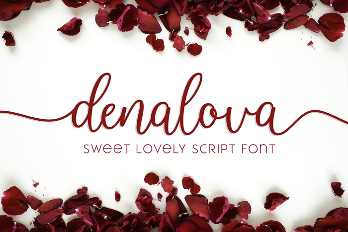 denalova Font poster