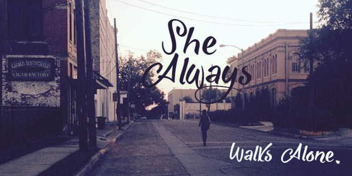 She Always Walk Alone Demo Font poster