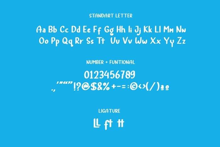 Rainbow Land Font poster