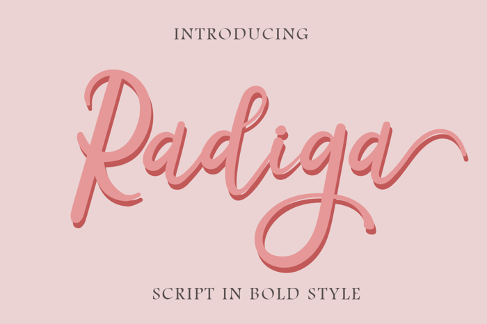 Radiga Font poster