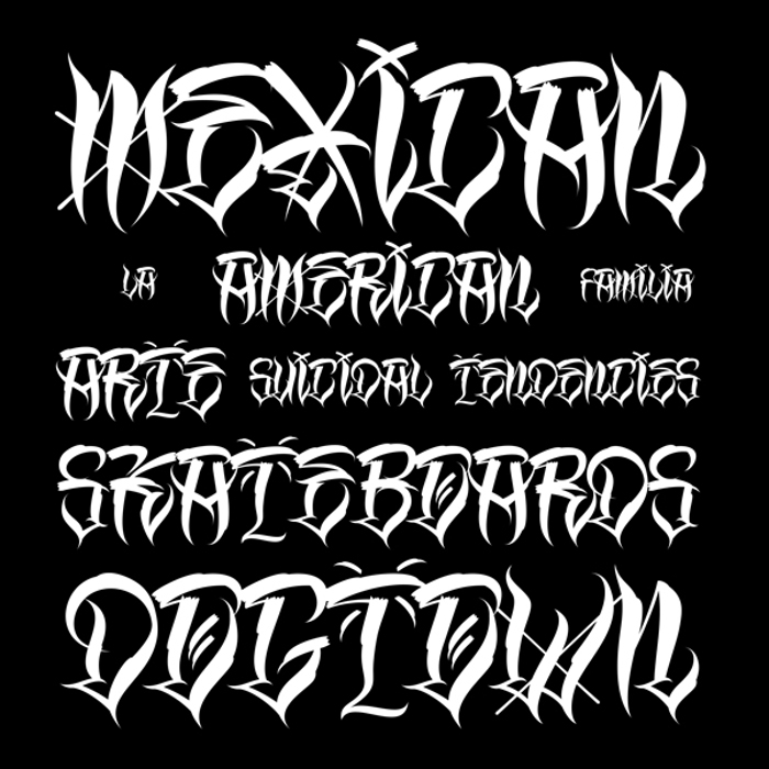 Los Angeles Homies Font poster