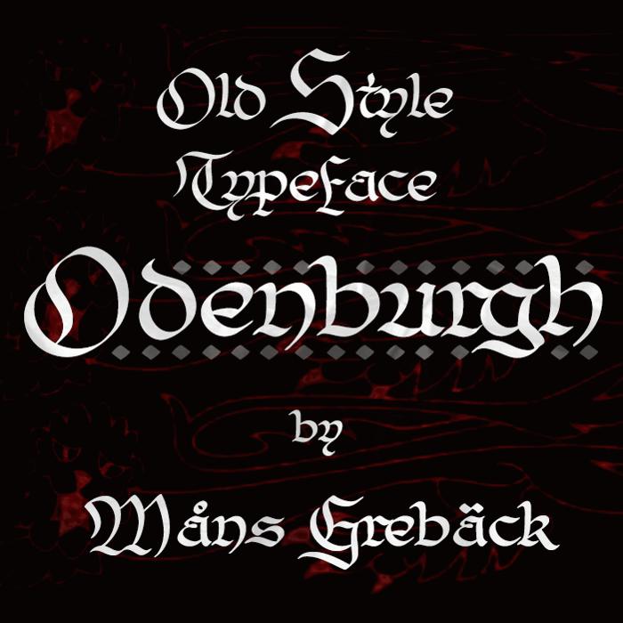 Odenburgh Font poster