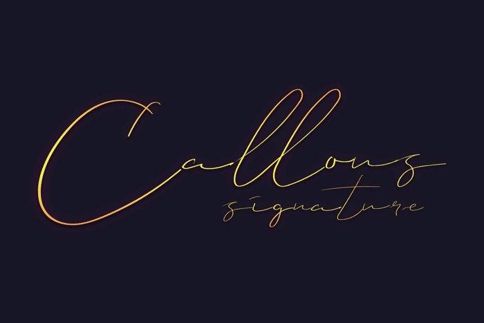 Callous Font poster