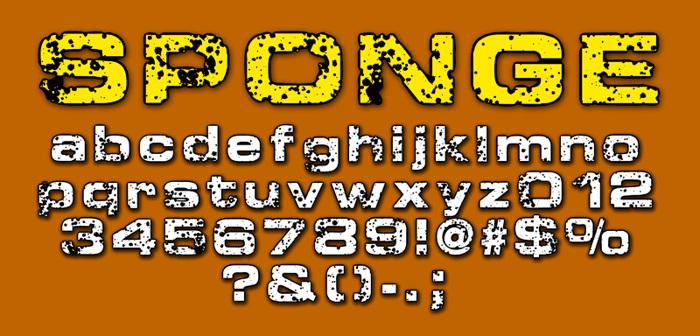 Sponge Font poster