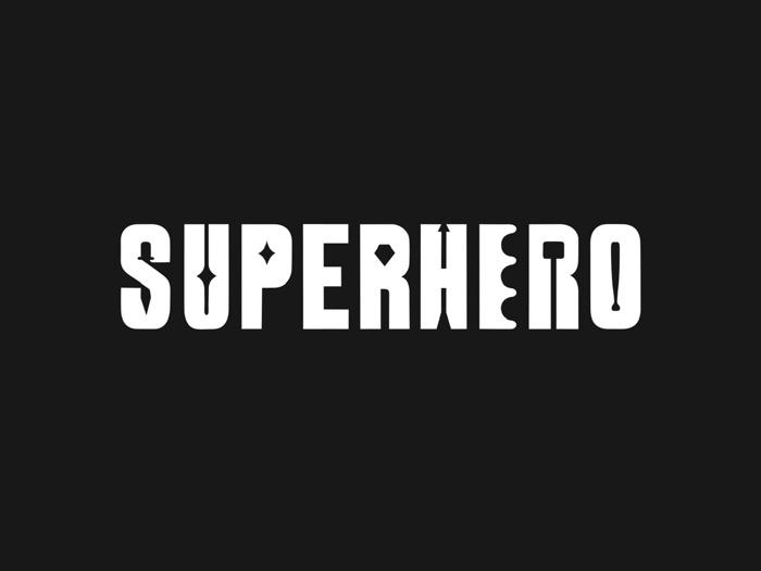 SUperHERO Font poster