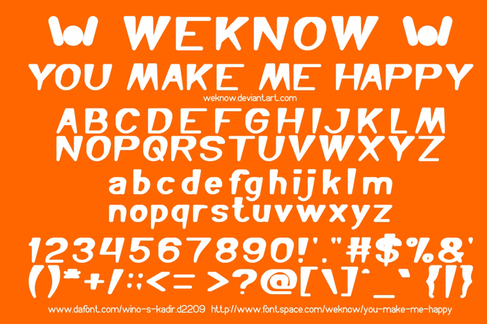 You Make Me Happy Font poster