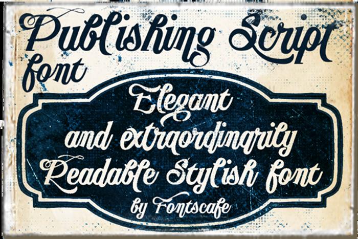 Publishing Script Font poster