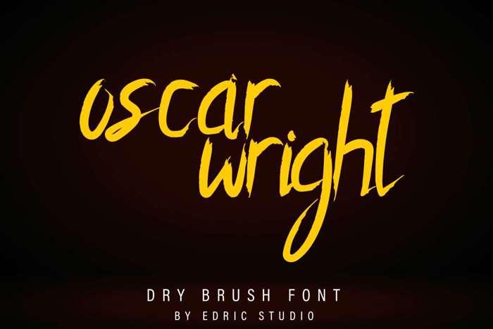 Oscar Wright Font poster