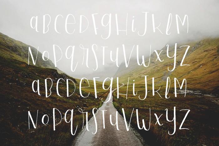 Playful Script Font poster